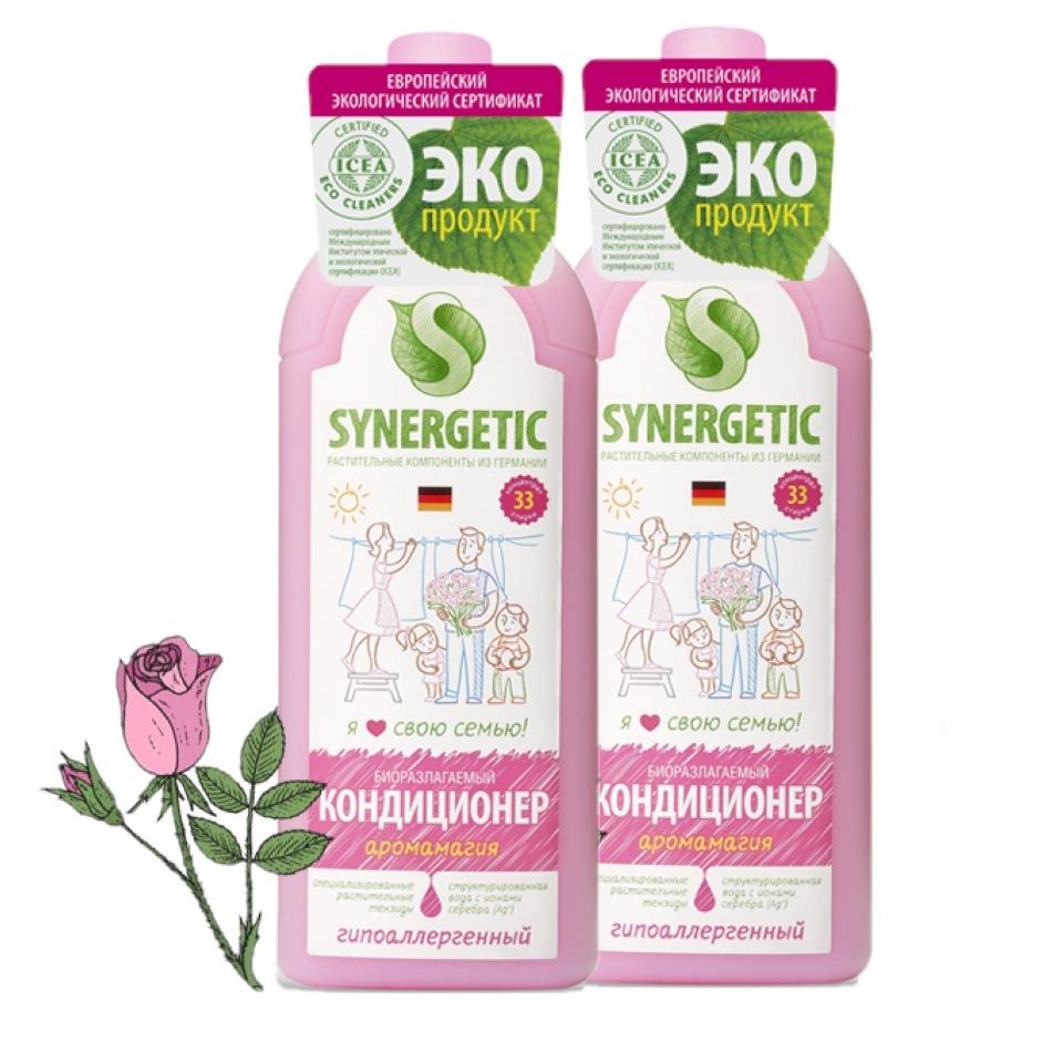 Набор Synergetic кондиционер для белья аромамагия 1 л 2 шт фото