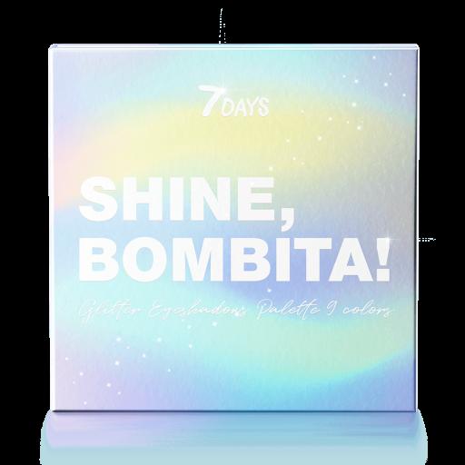 Палетка мерцающих теней для век 7DAYS SHINE, BOMBITA! 9 цветов, 9 шт x 2 г фото