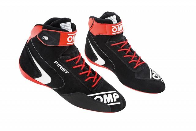 Ботинки для автоспорта FIRST my2020,чёрный/красный,41 OMP Racing