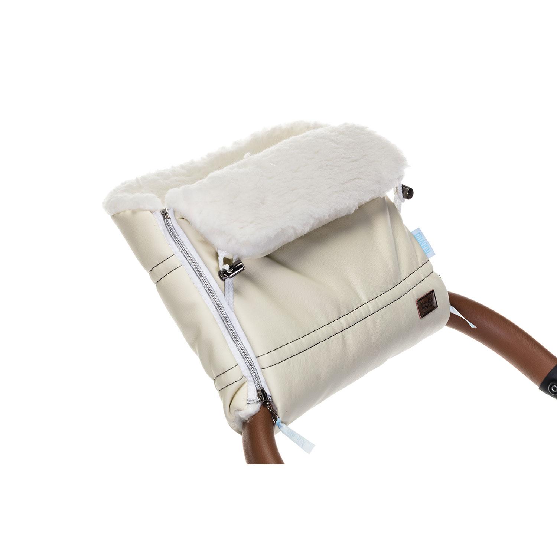 Купить Муфта меховая для коляски Nuovita Alpino Lux Bianco Crema/Кремовый,