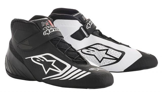 Ботинки для картинга TECH 1 KX, чёрный/белый,