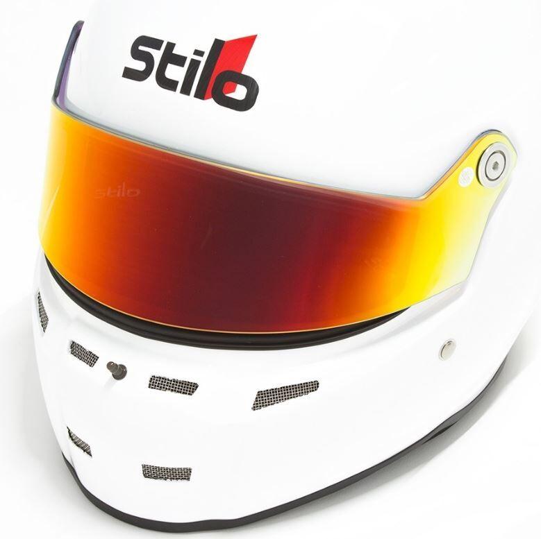 Визор для шлемов ST5, короткий, иридиевый красный,