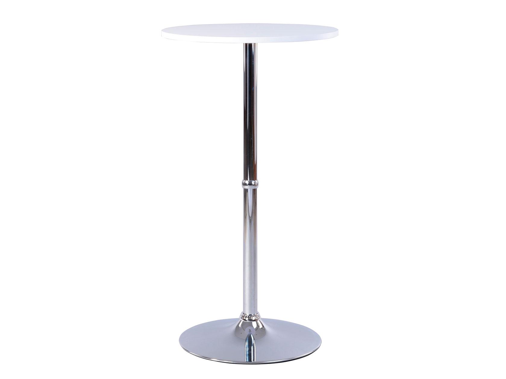 Барный стол ST25003 Белый/Хром