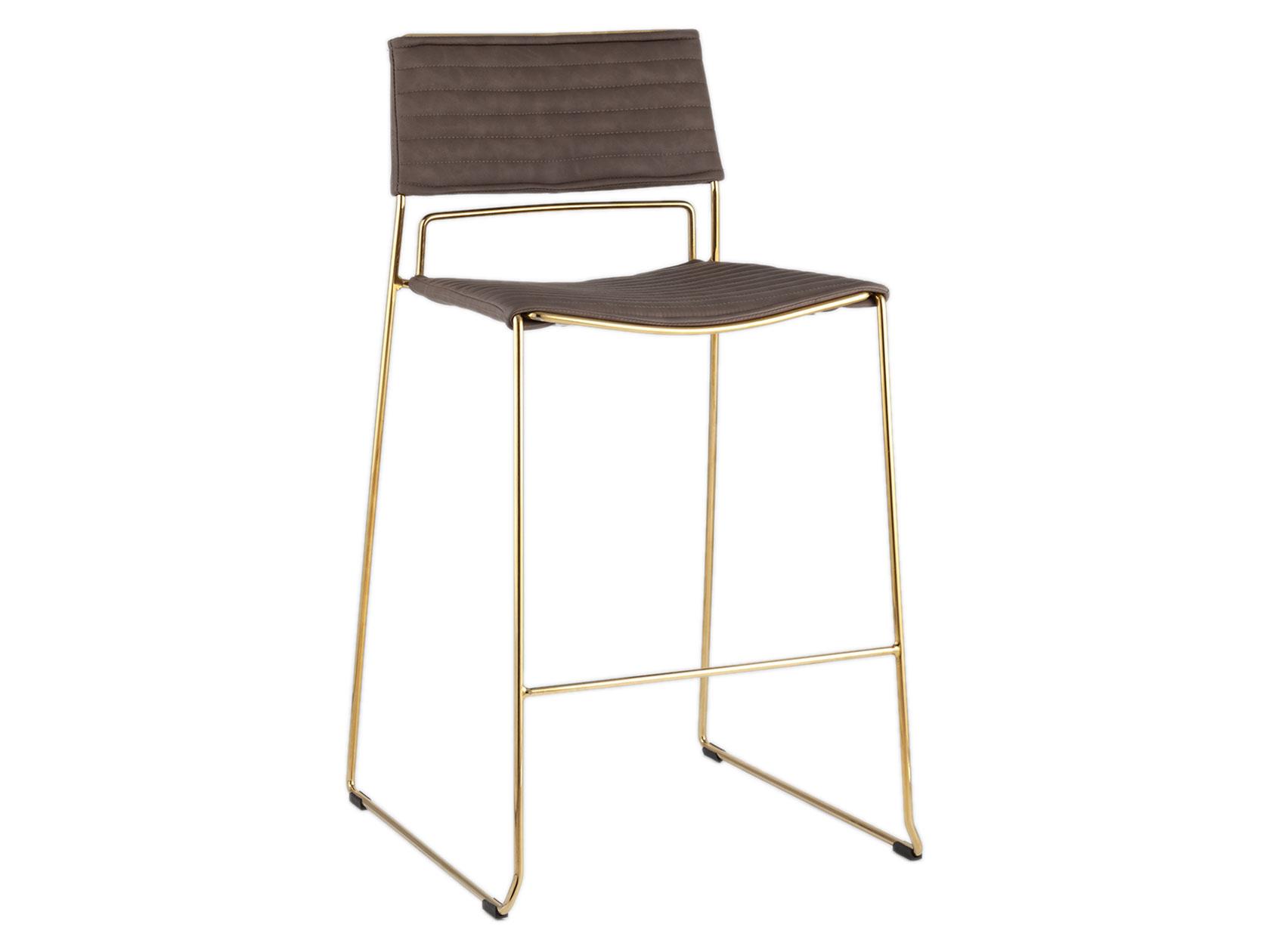 Барный стул STOOL GROUP Дэйзи, серебристый/коричневый