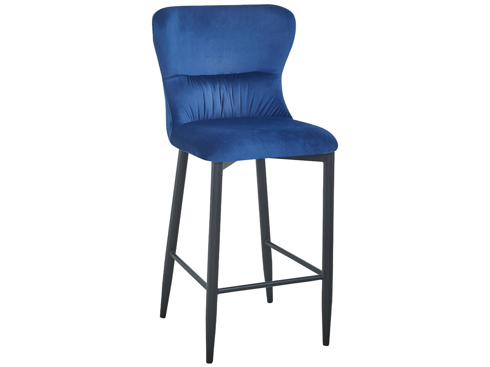 Барный стул STOOL GROUP Лилиан, черный/синий