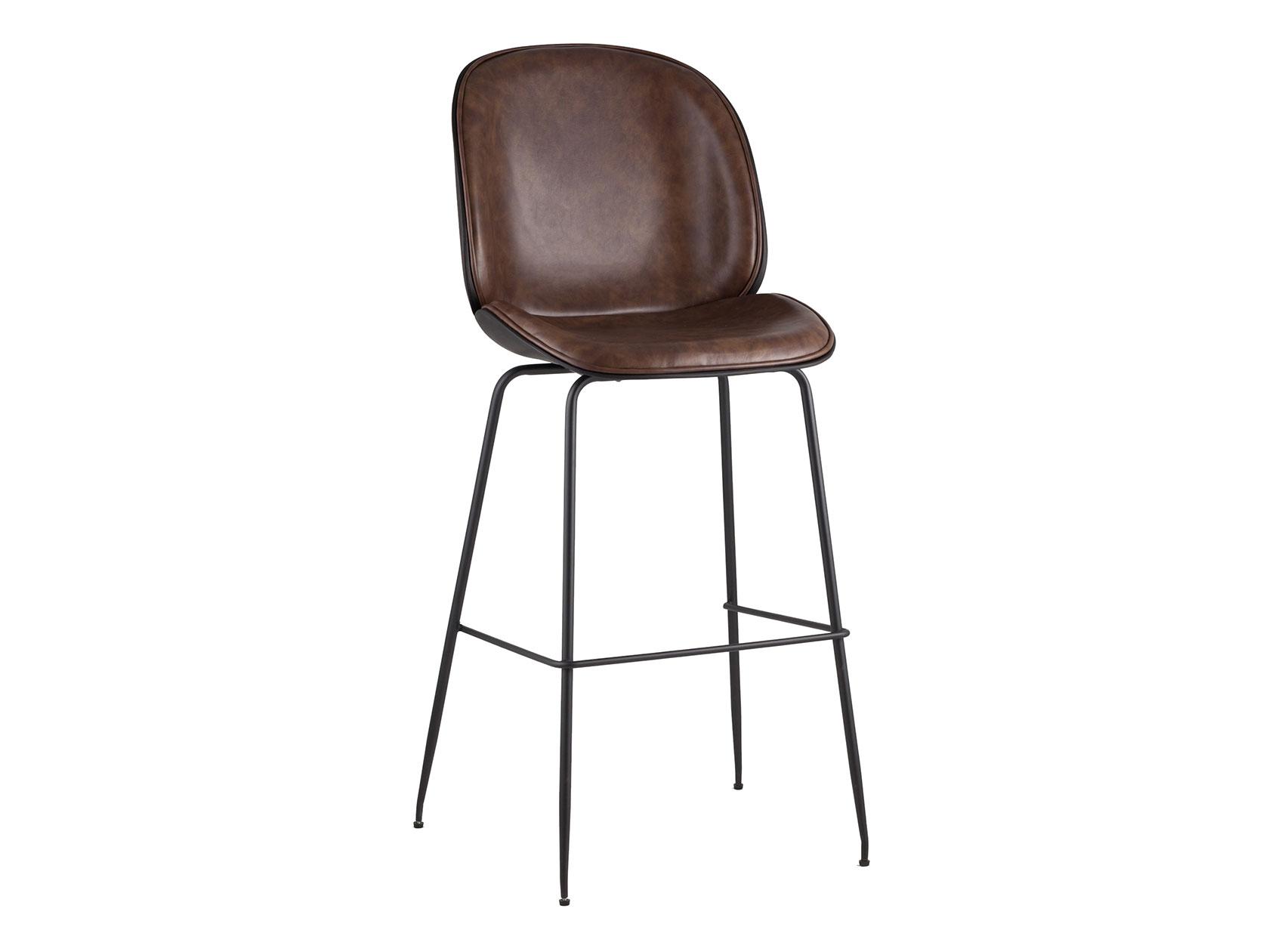 Барный стул STOOL GROUP Турин, черный/коричневый