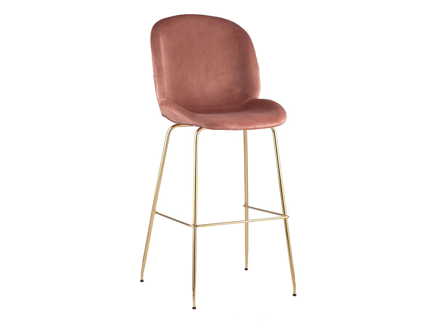 Барный стул STOOL GROUP Турин, золотистый/розовый