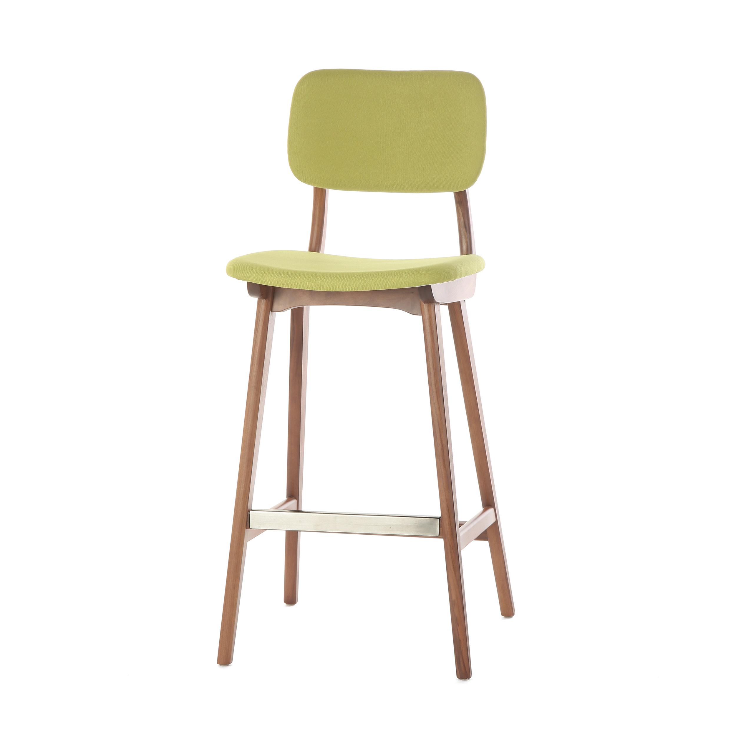 Барный стул Cosmo Civil 2 54775, орех/зеленый