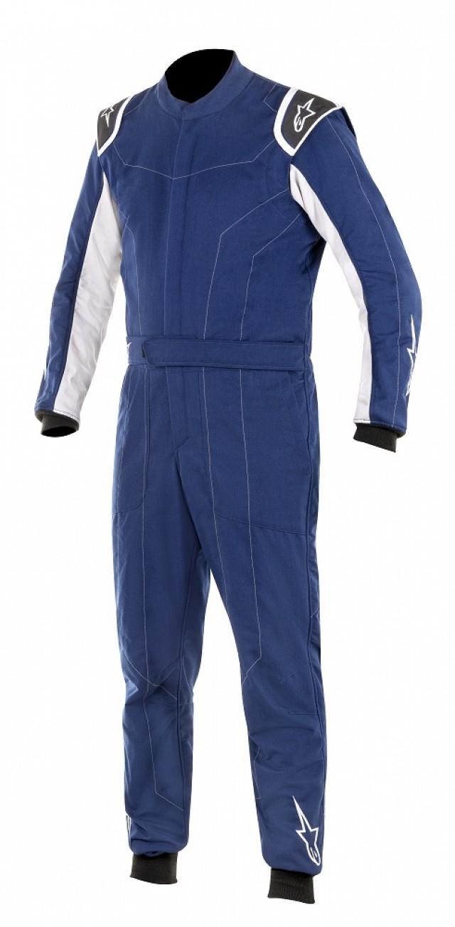 Комбинезон для автоспорта DELTA, FIA, синий/серебристый,
