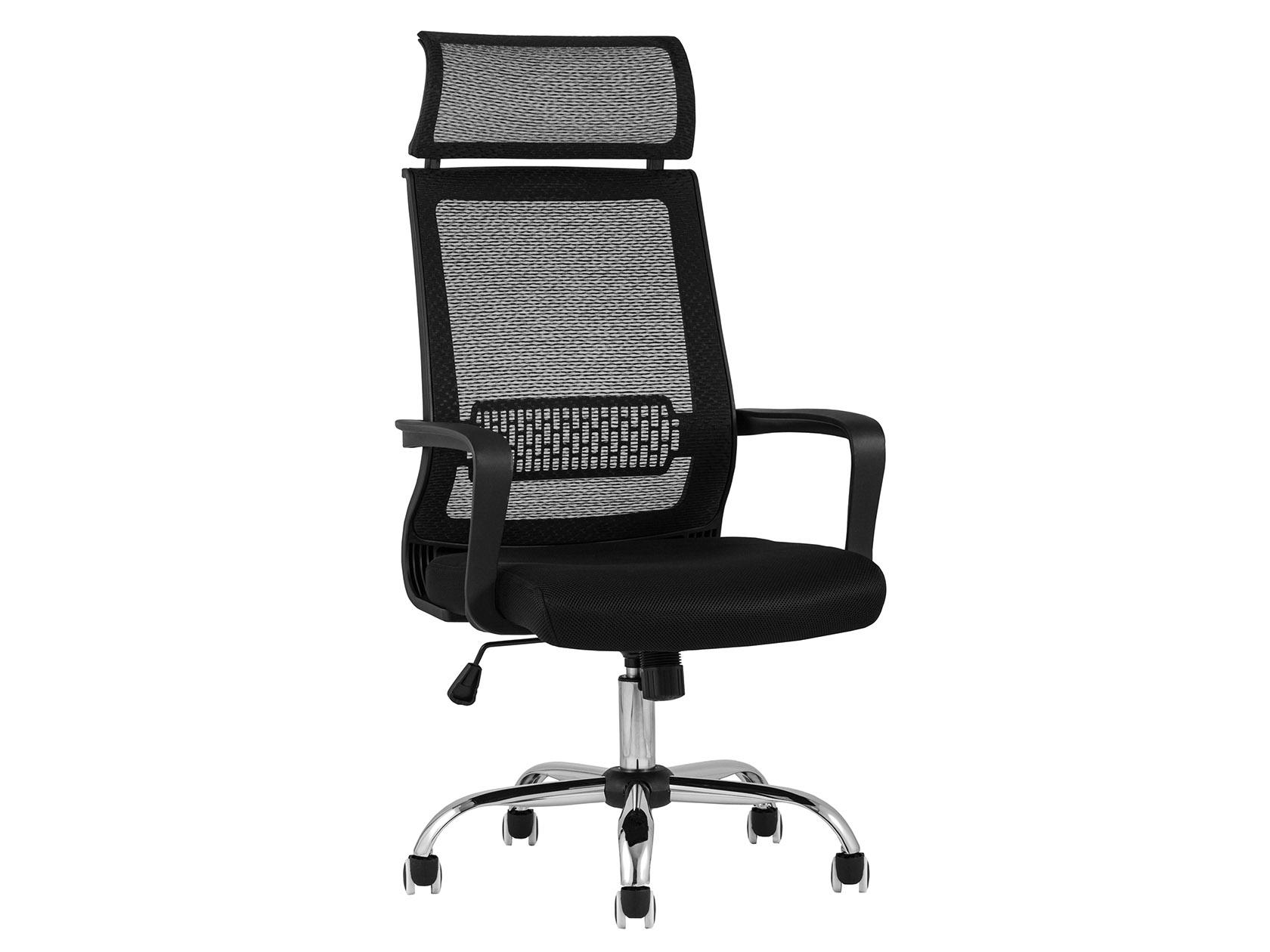 Офисное кресло TopChairsStyle Черный, сетка/Черный, сетка