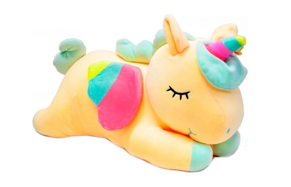 Купить Мягкая игрушка плюшевый Единорог 60 см Edinorog_Yellow_60, wellywell,