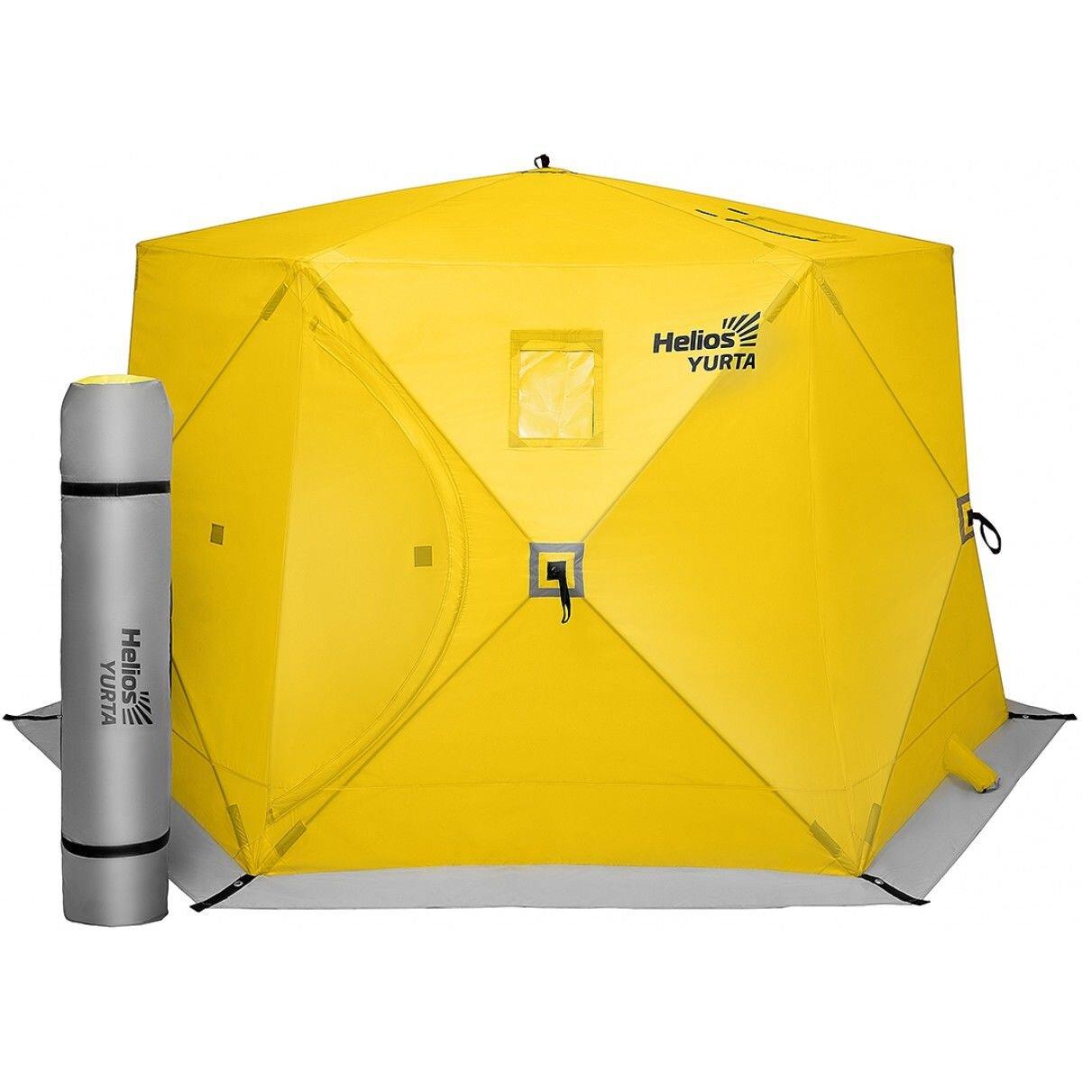 Палатка всесезонная ЮРТА (баня) yellow Helios (HS-ISY-Y)
