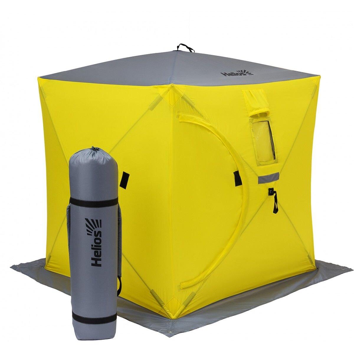 Палатка куб 1,8х1,8 (4желтый/1серый)