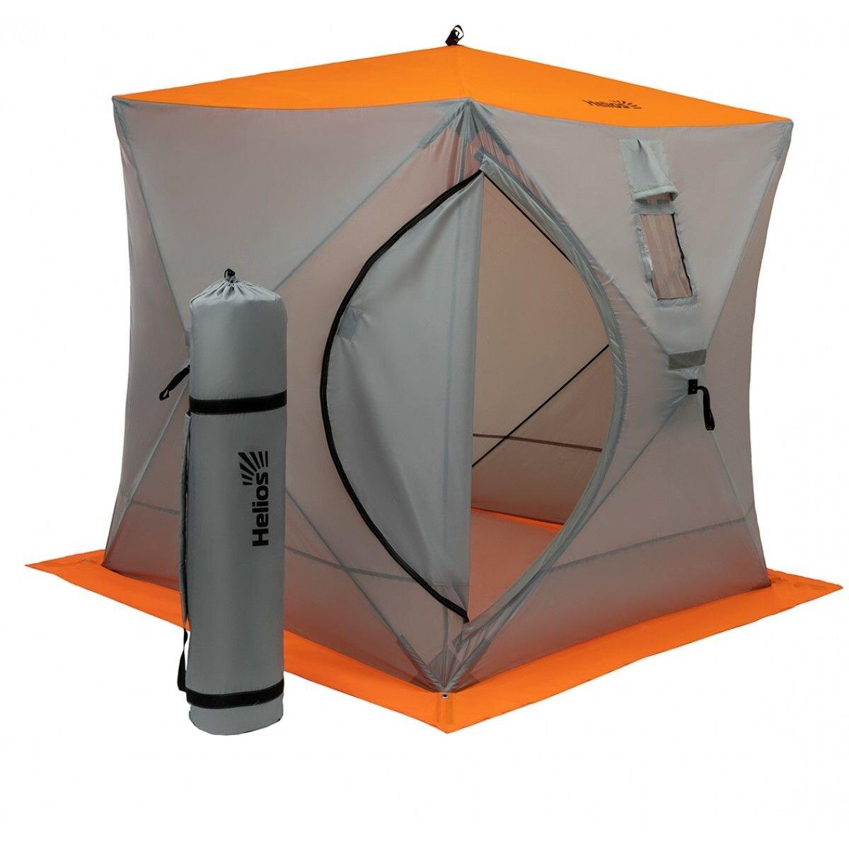 Палатка куб 1,8х1,8 (4серый/1оранжевый)