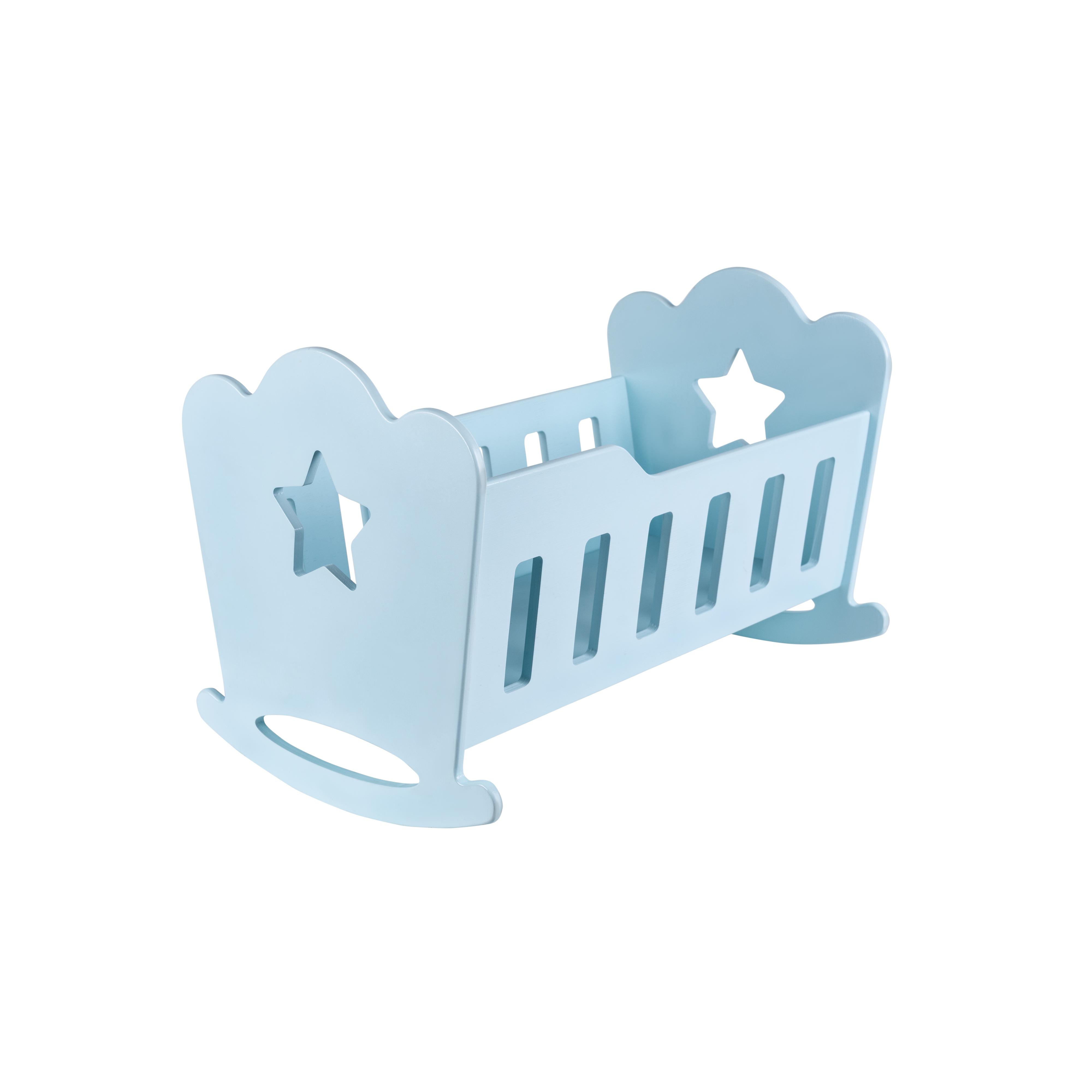 Кроватка ЭКО для кукол до 45см Mommy цвет бирюзовый Rodent kids