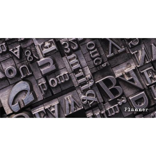Планинг карманный недатированный Listoff Шрифты 64л ПКЛ196412