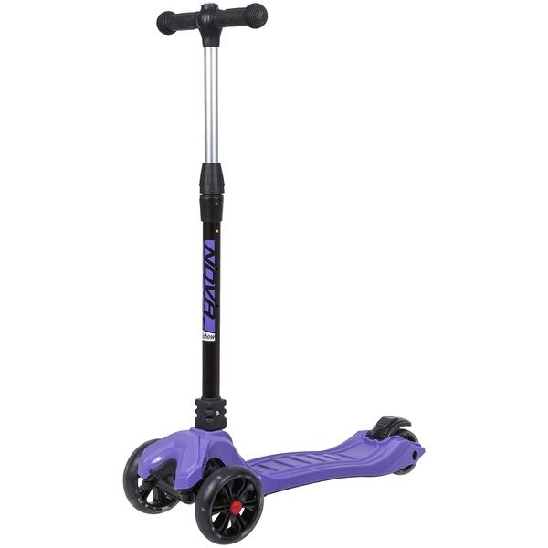 Купить Самокат-кикборд Novatrack RainBow Pro складной фиолетовый,