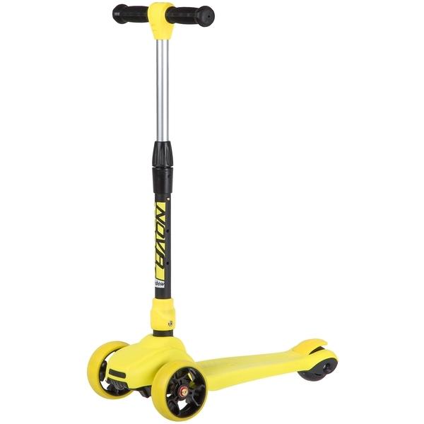 Купить Самокат-кикборд Novatrack RainBow Car складной желтый,