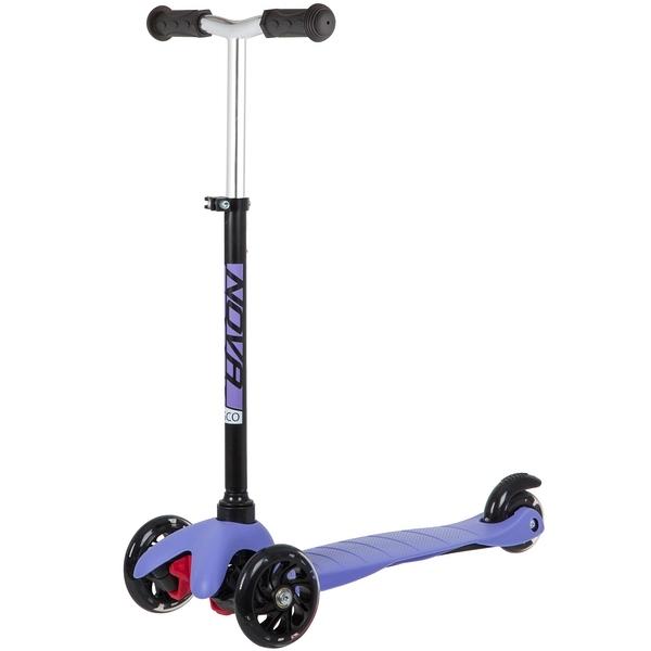 Купить Самокат-кикборд Novatrack Disco-kids Basic фиолетовый,
