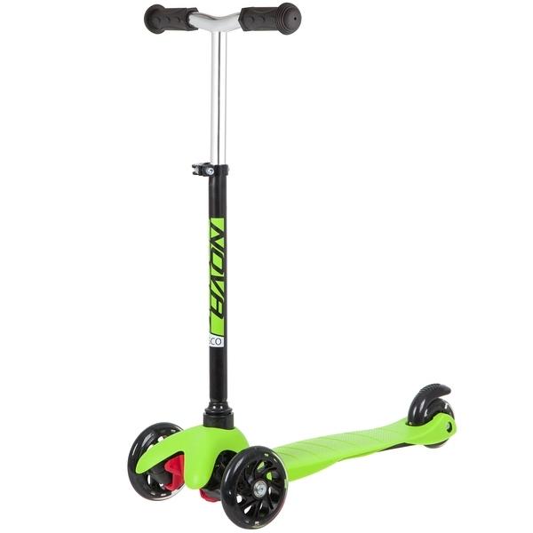 Купить Самокат-кикборд Novatrack Disco-kids Basic зеленый,