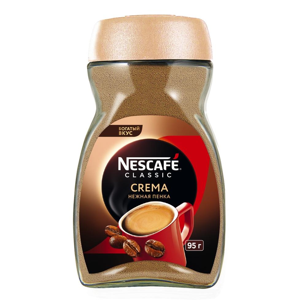 Кофе растворимый Nescafe classic crema натуральный порошкообразный 95 г фото