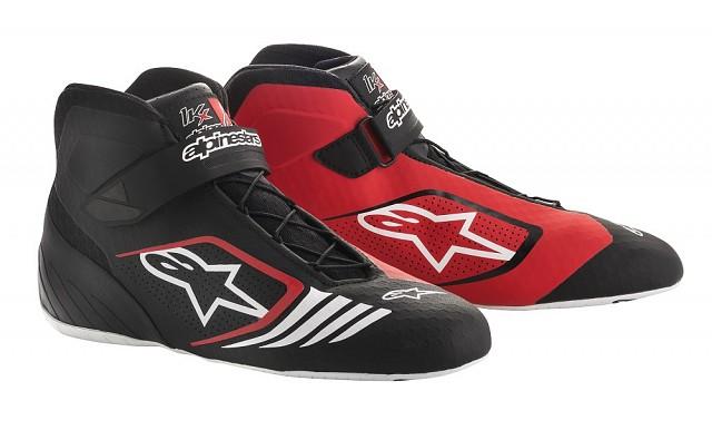 Ботинки для картинга TECH 1 KX, чёрный/красный/белый,
