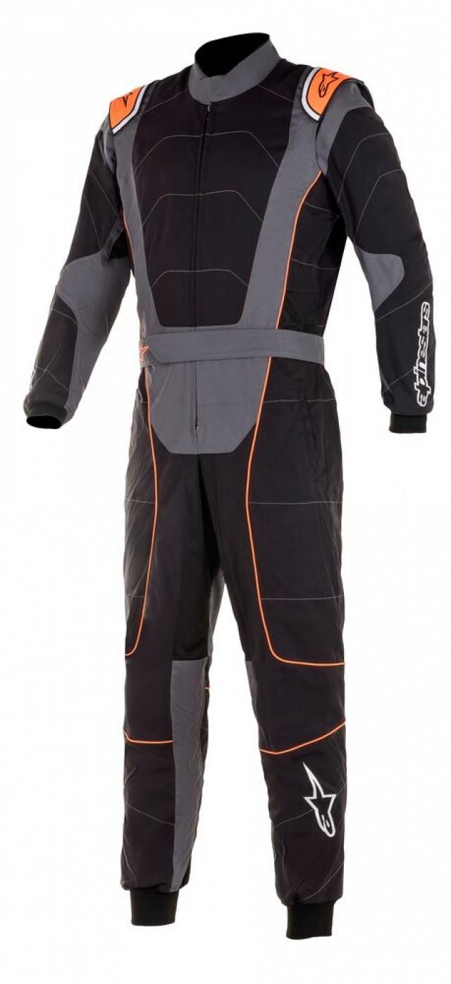 Комбинезон для картинга KMX 3 v2,CIK,чёрный/серый/оранжевый,52 Alpinestars
