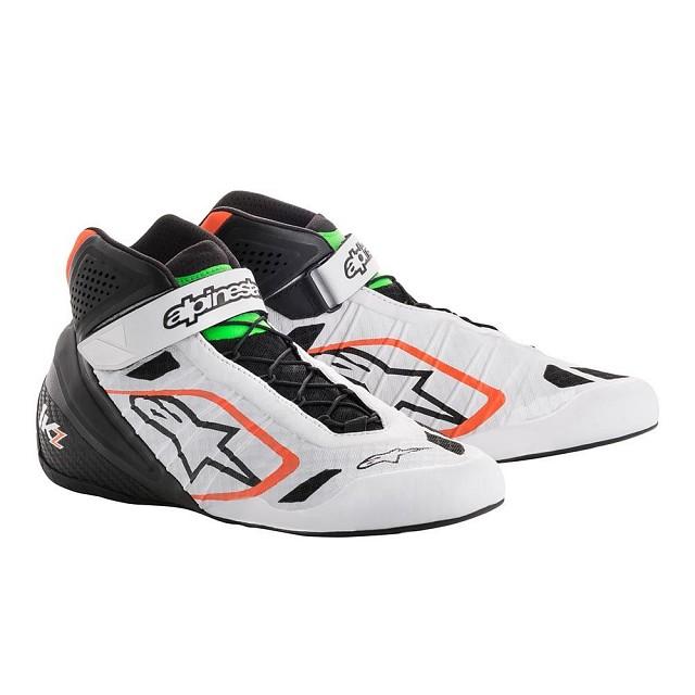 Ботинки для картинга TECH 1 KZ,белый/чёрный/оранжевый,42,5 (9,5)