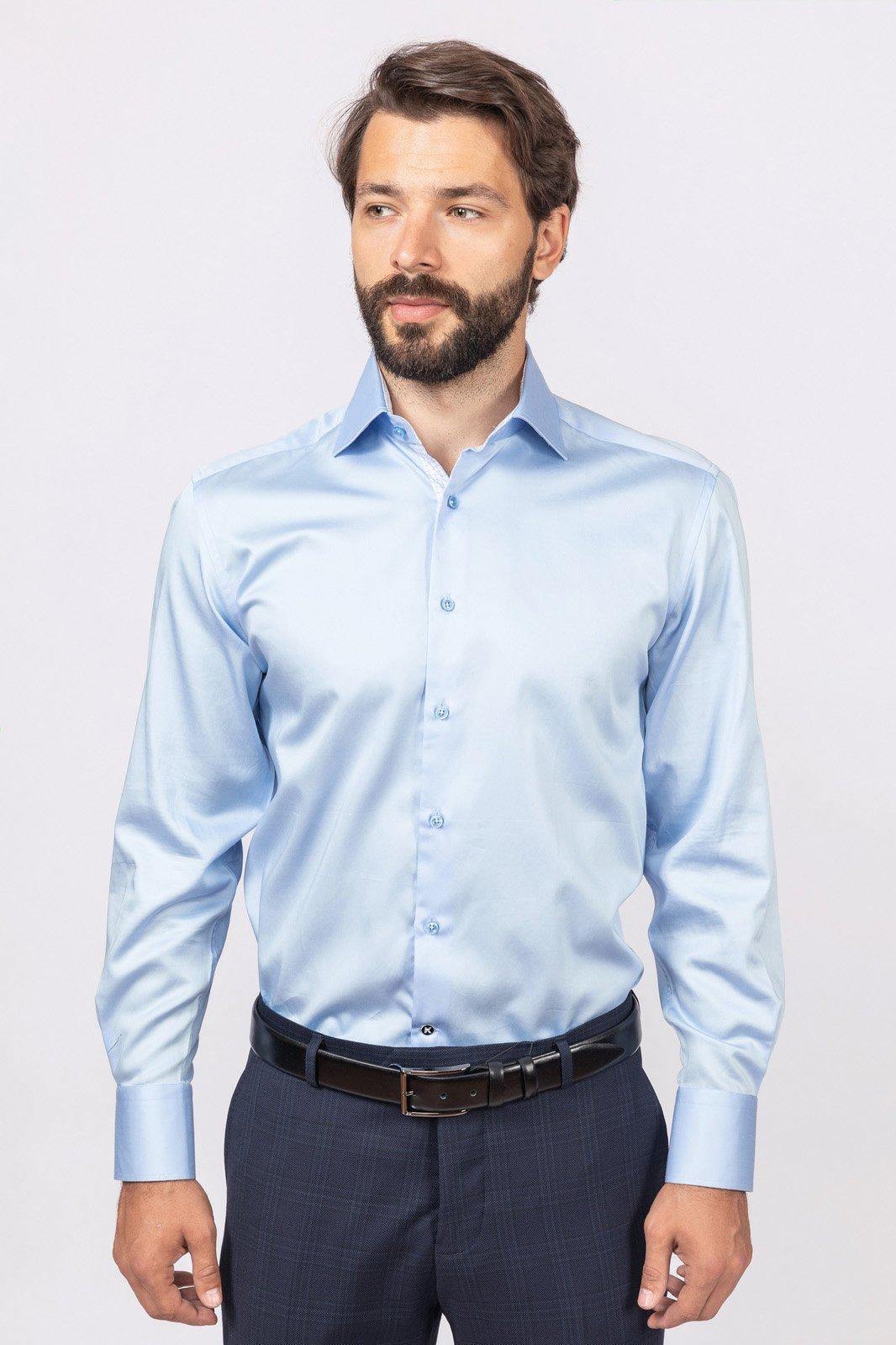 Рубашка мужская Kanzler 18W-SBL07RLSN/02 голубая 38/62