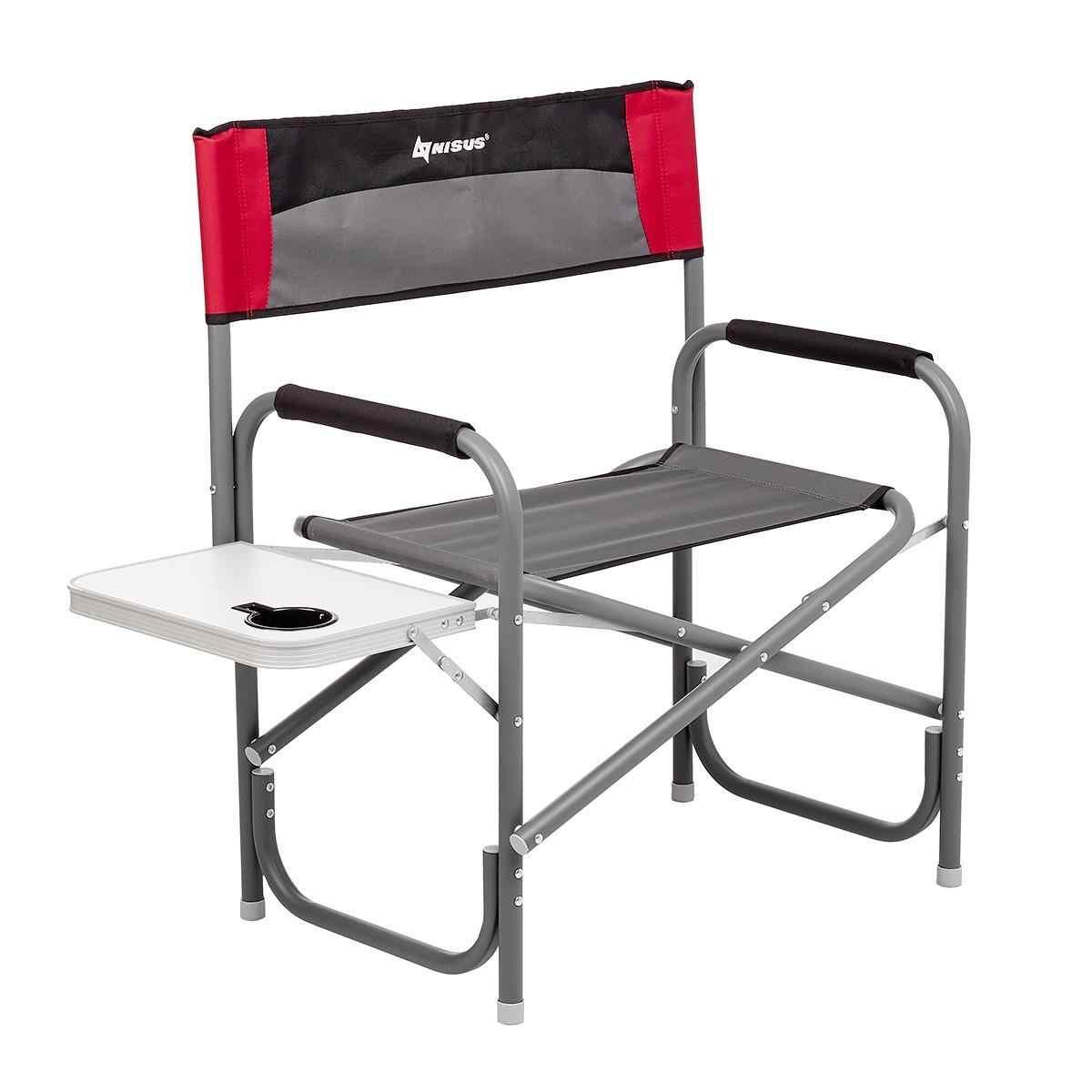 Кресло директорское с отк.стол. MAXI серый/красный/черный N-DC-95200T-M-GRD NISUS