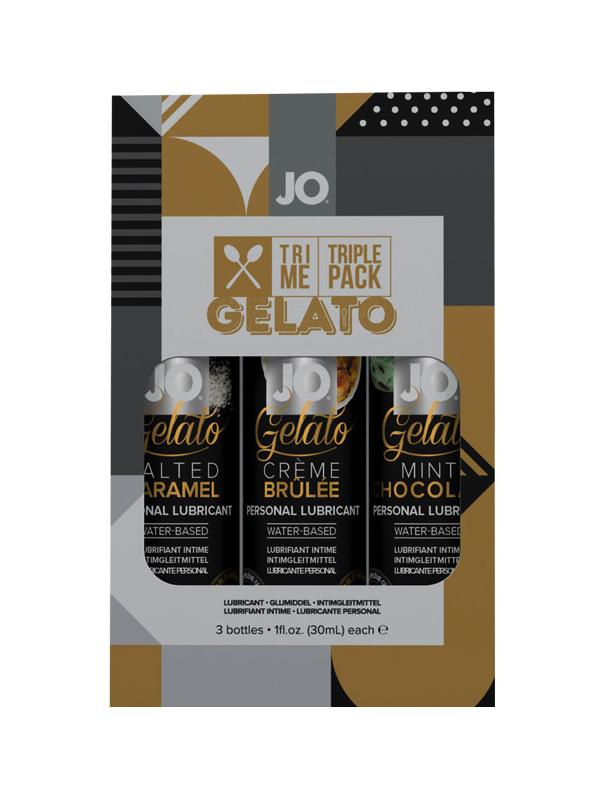 Купить Подарочный набор вкусовых лубрикантов Tri-Me Triple Pack Gelato, Подарочный набор System JO вкусовых лубрикантов Tri-Me Triple Pack Gelato