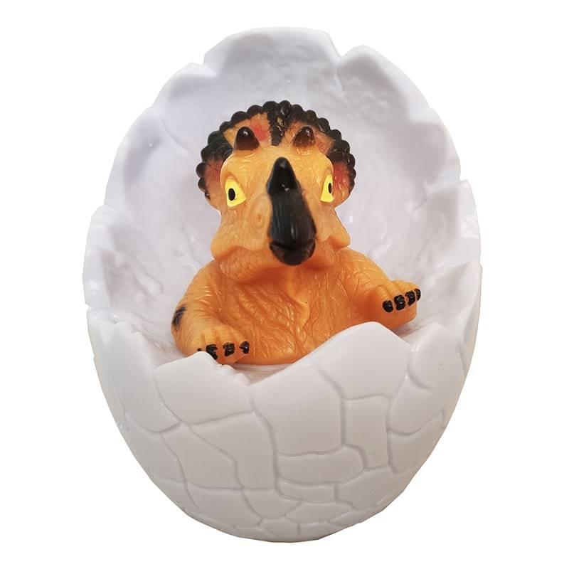Светильник-ночник Dinosaur lamp Динозаврик в яйце Трицератопс без пульта без пульта Трицератопс