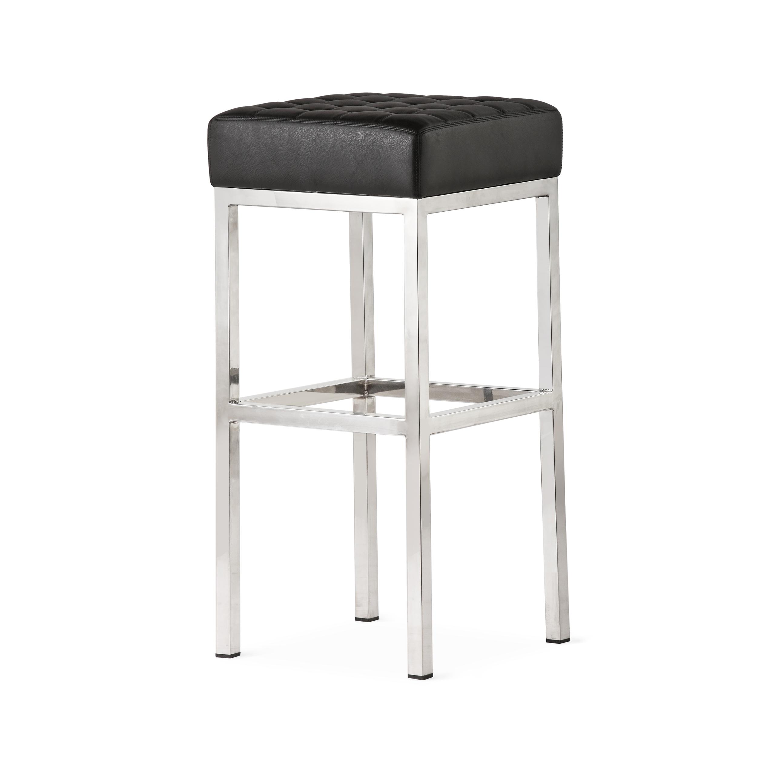 Барный стул Cosmo Quadro 9574, хром/черный