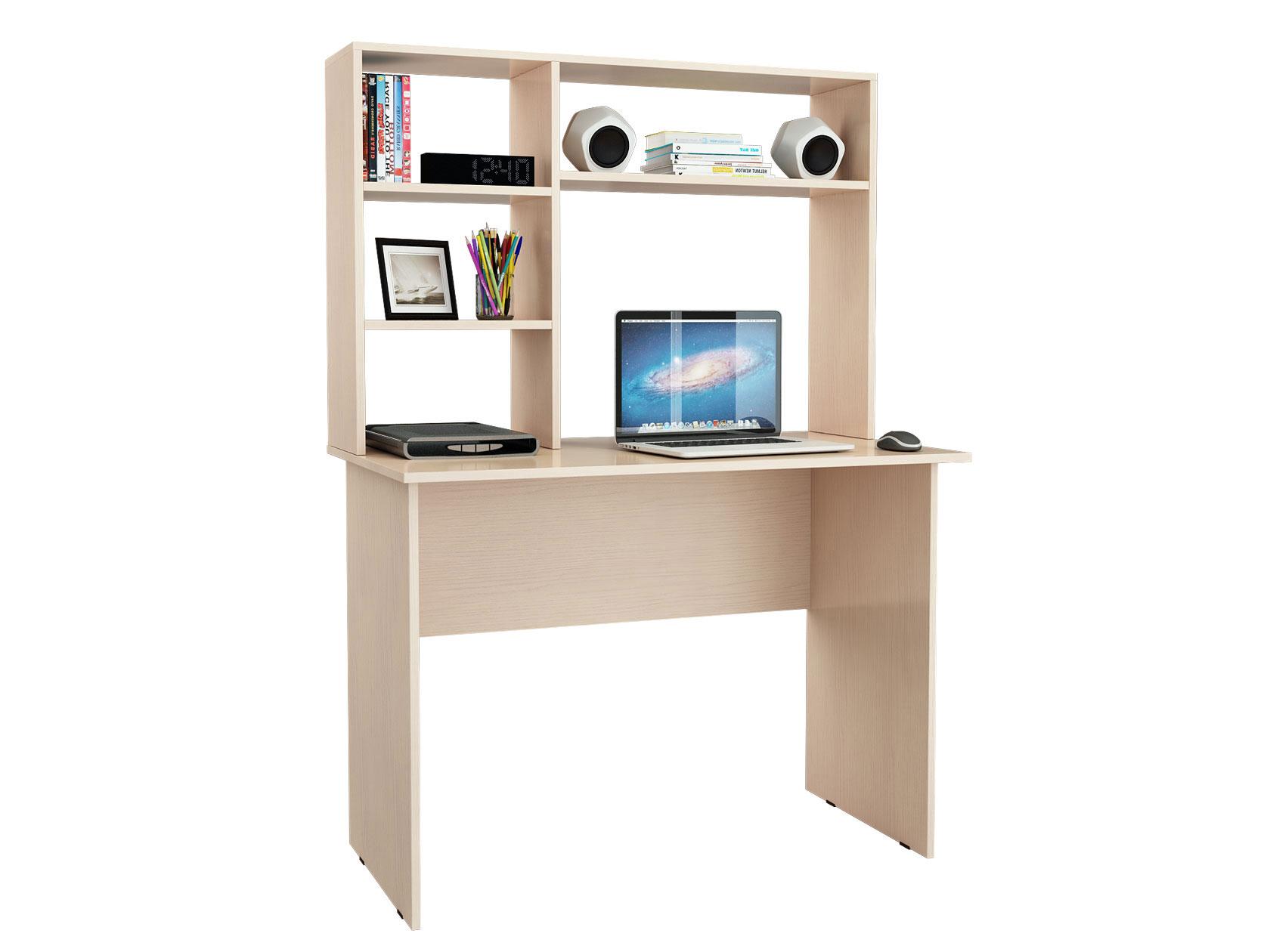Компьютерный стол MFMaster Милан 5 с надстройкой,