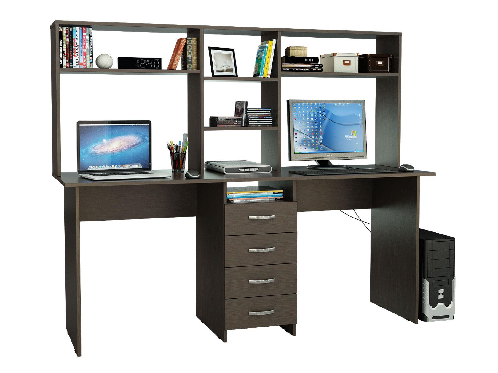 Компьютерный стол МФ Мастер Тандем-2 174,8x60x141,8, венге