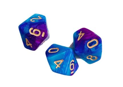Кубики вестники vselennaya128 фиолетово голубые