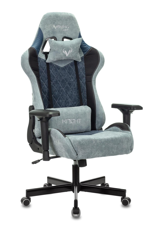 Кресло игровое Бюрократ VIKING 7 KNIGHT BL FABRIC синий
