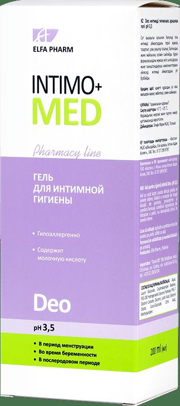 Гель для интимной гигиены Intimo+Med Deo