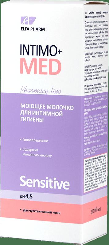 Молочко для интимной гигиены Intimo+Med серии Sensitive