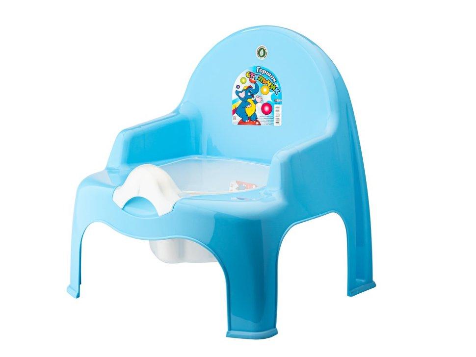 Горшок стульчик ElfPlast, голубой