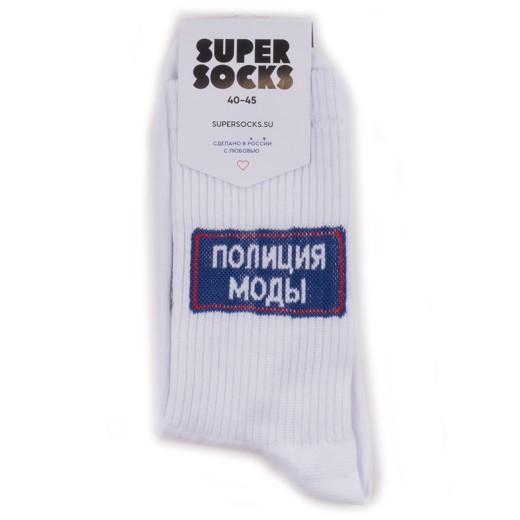 Носки унисекс Super Socks Polizia Modi белые 36-40