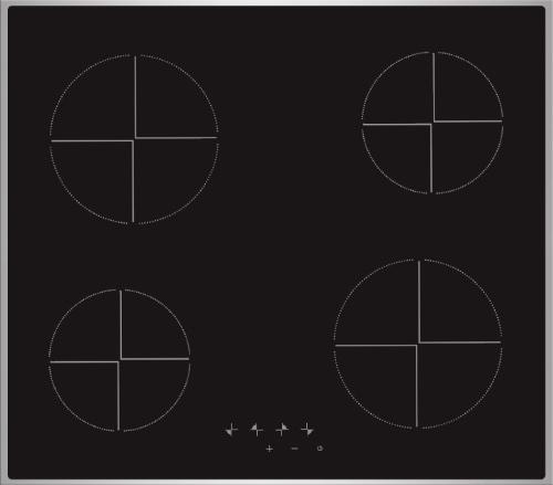 Встраиваемая электрическая панель Hi VE 6403 Black