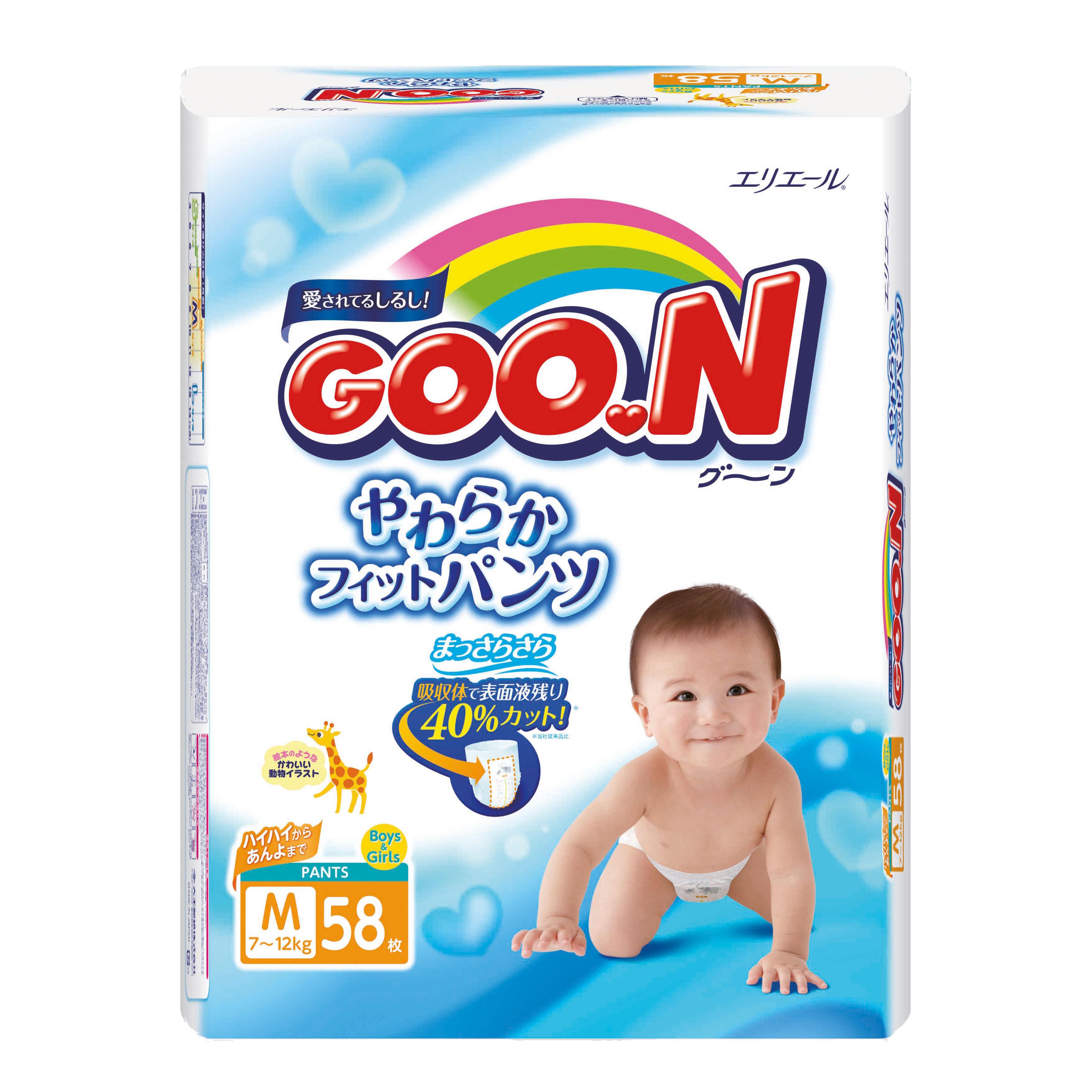 Подгузники-трусики Goon M (7-12 кг), 58 шт. фото