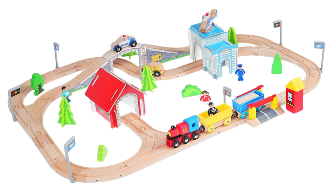 Железная дорога, 80 деталей Sima-Land