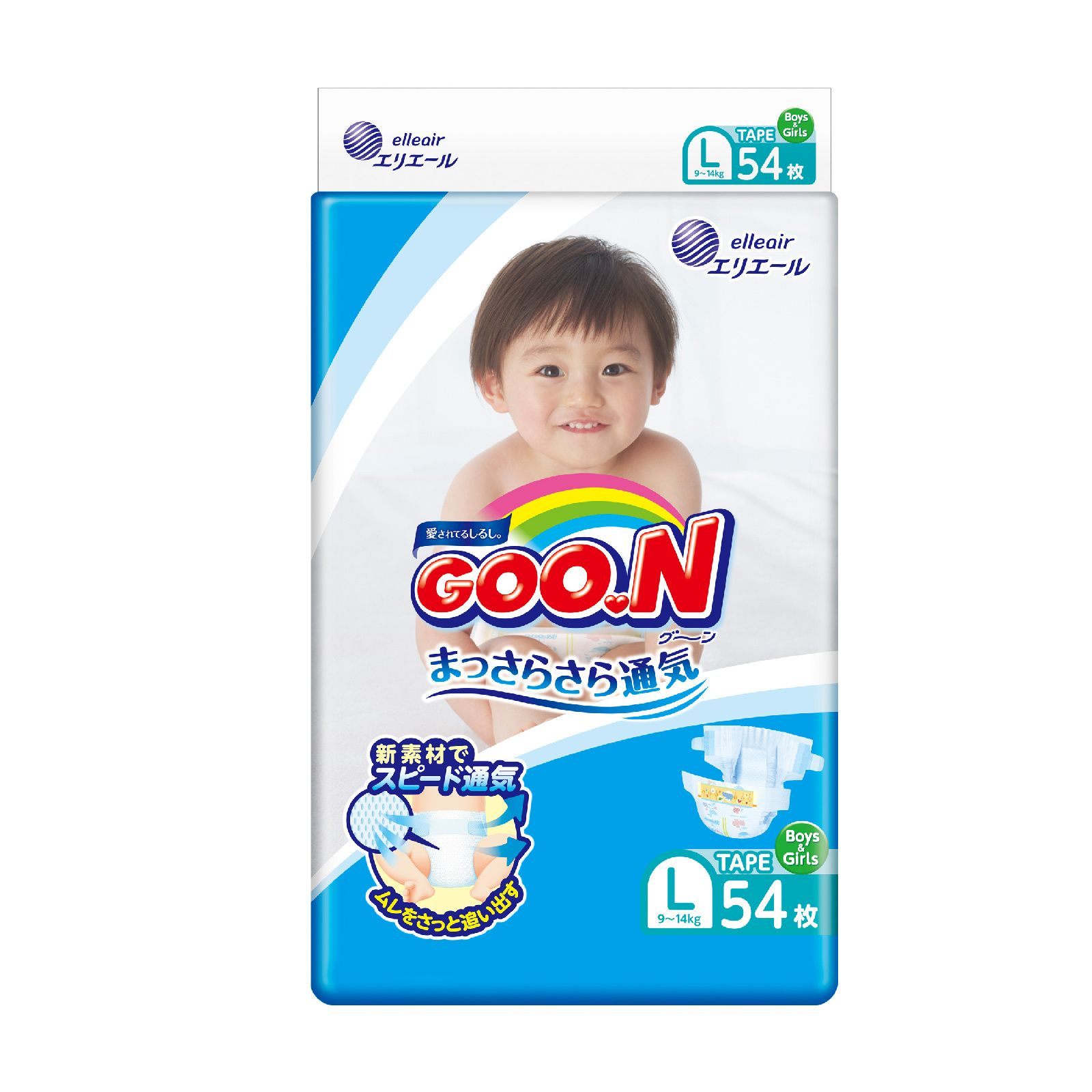 Купить Premium, Подгузники Goon L (9-14 кг), 54 шт.,