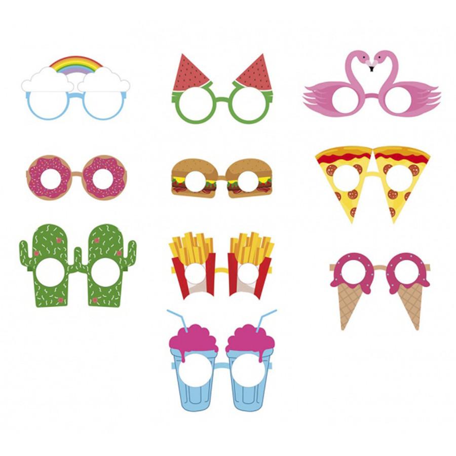 Бумажные очки для вечеринок Crazy Glasses