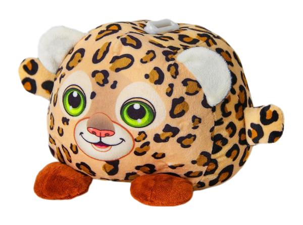 Купить Мягкая игрушка-копилка Леопард со звуком, с подсветкой Sima-Land, Мягкие игрушки животные