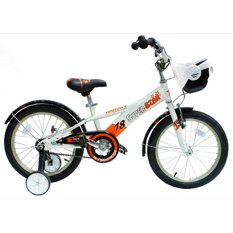Детский велосипед Gravity Superstar 18 белый.