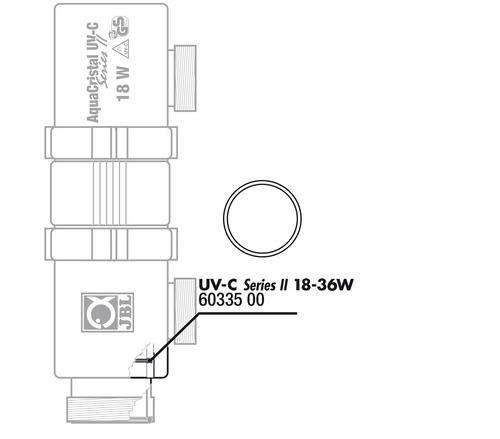 Прокладка кварцевого кожуха JBL O Ring 57x39mm