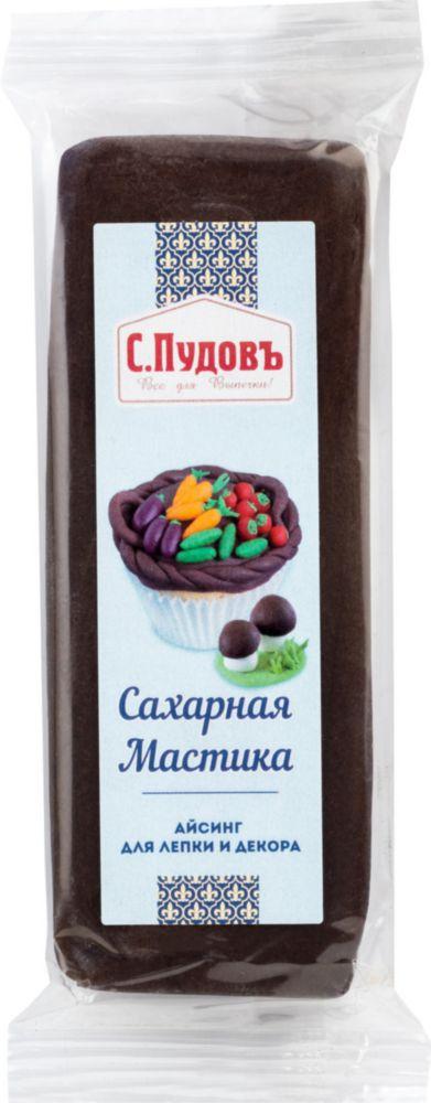 Сахарная мастика С.Пудовъ коричневая 100 г фото